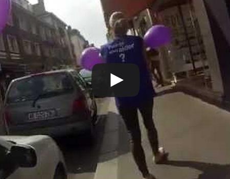 Opération street marketing pour Carrefour Tours (06/09/2014)