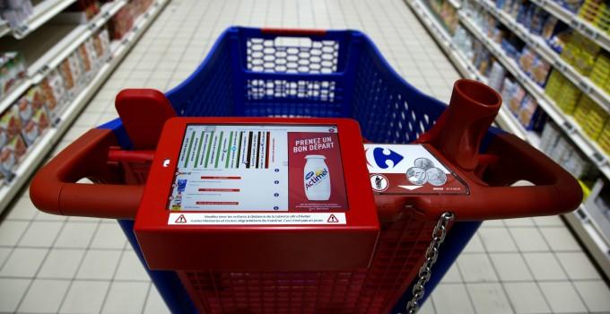 Des chariots connectés chez Carrefour avec Mediaperformances